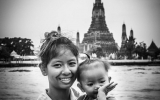 Wat Arun-Mother & Daughter