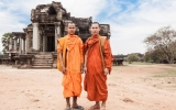 Cambodian Tourist Monks