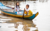 Kids in the Floating Village, Cambodia