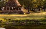 Sukhothai Temple Reflection