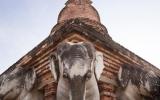 Sukhothai Elephant Temple Close up