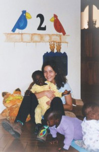 Oscar & Alejandra at the Orphan House, Kenya